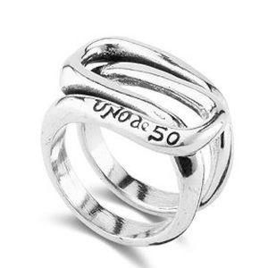 Uno de 50 Trapped Interlocked Unisex Ring